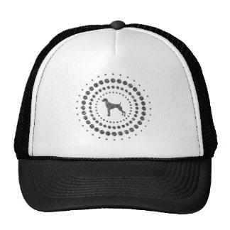 Weimaraner Chrome Studs Trucker Hat