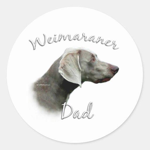 Weimaraner Dad 2 Classic Round Sticker
