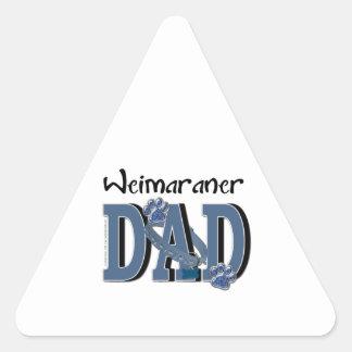Weimaraner DAD Triangle Sticker