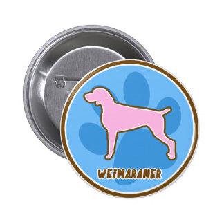 Weimaraner de moda pin
