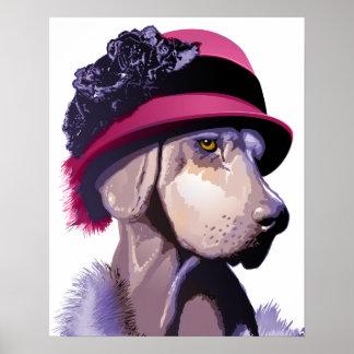 Weimaraner de moda póster