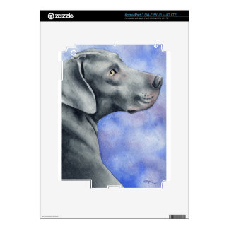 Weimaraner Decals For iPad 3