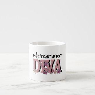 Weimaraner DIVA 6 Oz Ceramic Espresso Cup