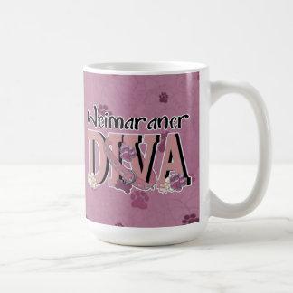 Weimaraner DIVA Classic White Coffee Mug