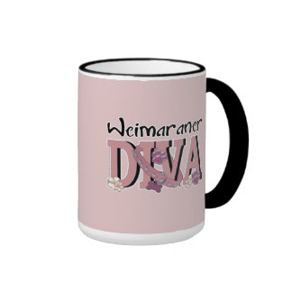 Weimaraner DIVA Ringer Coffee Mug