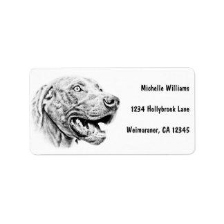 Weimaraner dog address label