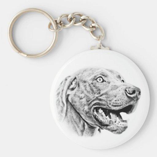 Weimaraner dog basic round button keychain