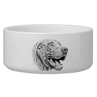 Weimaraner dog bowl