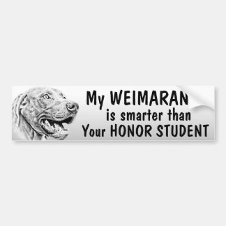 Weimaraner dog bumper stickers