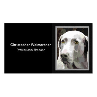 Weimaraner dog Double-Sided standard business cards (Pack of 100)