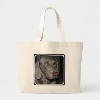 Weimaraner Dog Canvas Bag
