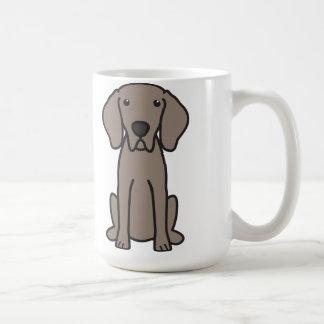 Weimaraner Dog Cartoon Coffee Mug