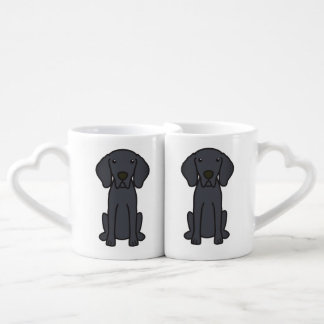 Weimaraner Dog Cartoon Lovers Mug Sets