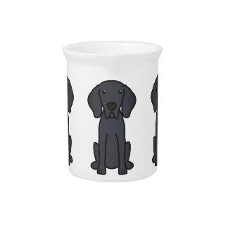 Weimaraner Dog Cartoon Beverage Pitchers