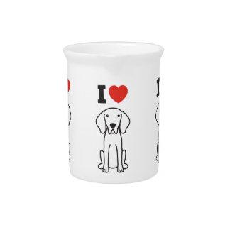 Weimaraner Dog Cartoon Drink Pitcher