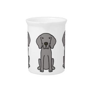 Weimaraner Dog Cartoon Beverage Pitcher