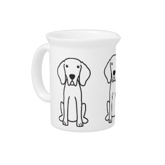 Weimaraner Dog Cartoon Pitcher