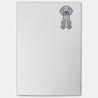 Weimaraner Dog Cartoon Post-it Notes