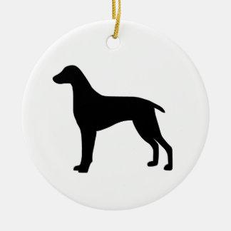 Weimaraner Dog Ceramic Ornament