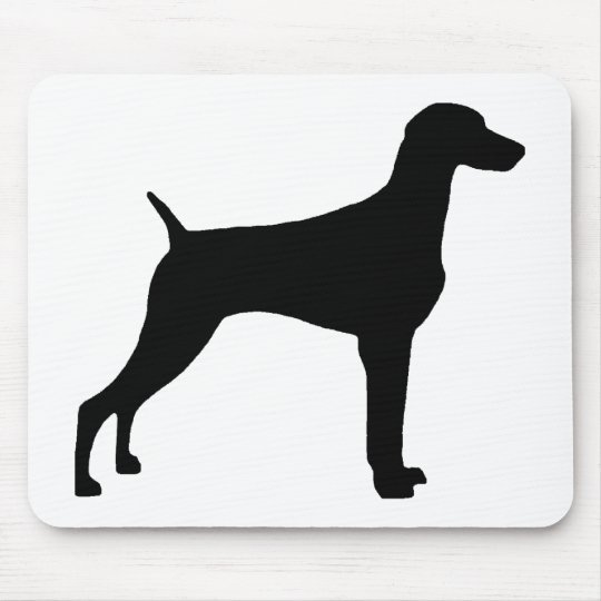 Weimaraner Dog (in black) Mouse Pad