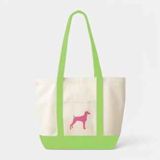 Weimaraner Dog (in pink) Impulse Tote Bag
