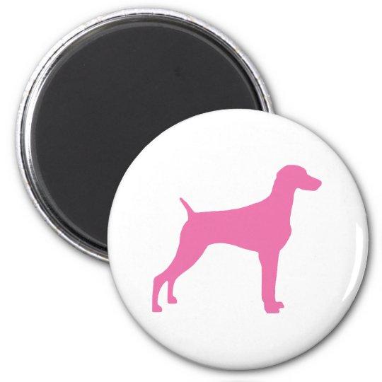 Weimaraner Dog (in pink) Magnet