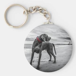 Weimaraner Dog Key Chain