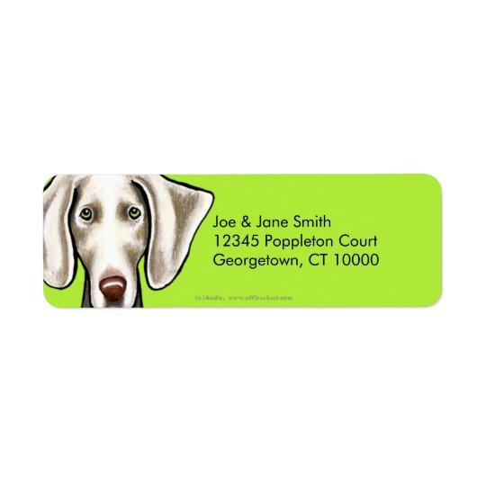 Weimaraner Dog Olive Label
