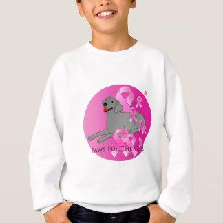 Weimaraner Dog Pink Ribbon Sweatshirt