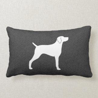 Weimaraner Dog Silhouette Lumbar Pillow