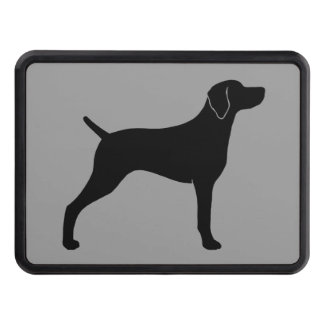 Weimaraner Dog Silhouette Tow Hitch Cover