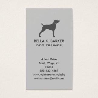 Weimaraner Dog Silhouette Vertical Business Card
