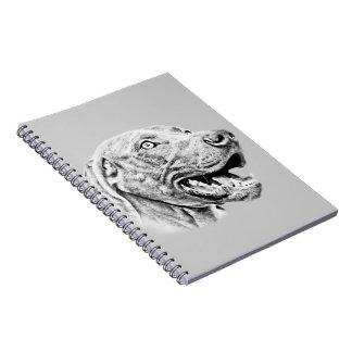 Weimaraner dog spiral notebook