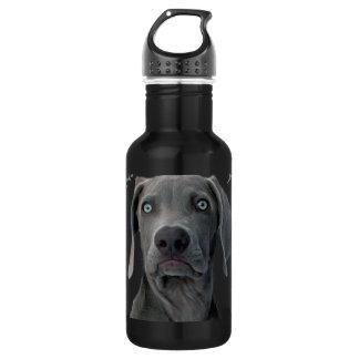 Weimaraner Double Dog Dare You 18oz Water Bottle