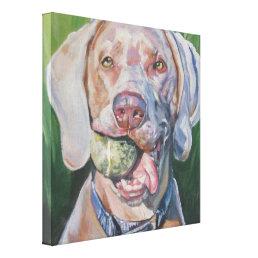 Weimaraner fine art dog painting canvas print