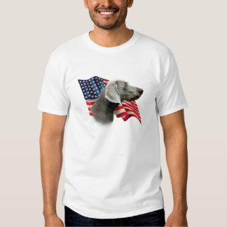 Weimaraner Flag T Shirt