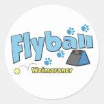 Weimaraner Flyball Pegatinas Redondas