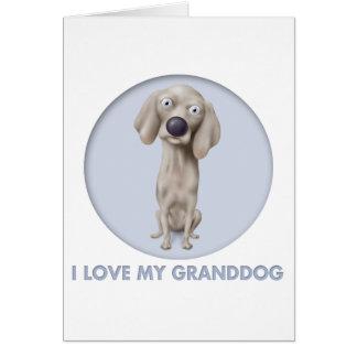 Weimaraner Granddog Card