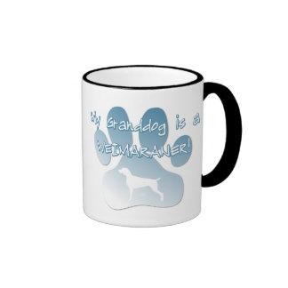 Weimaraner Granddog Ringer Coffee Mug