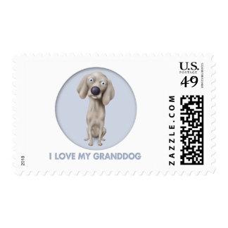 Weimaraner Granddog Postage