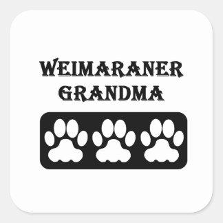 Weimaraner Grandma Square Sticker