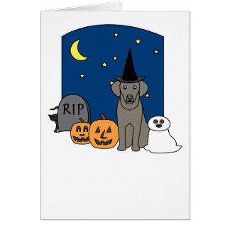 Weimaraner Halloween Greeting Card