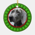 Weimaraner Happy Howliday Christmas Tree Ornament