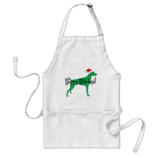 Weimaraner Holiday Christmas Adult Apron