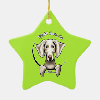 Weimaraner IAAM Ceramic Ornament