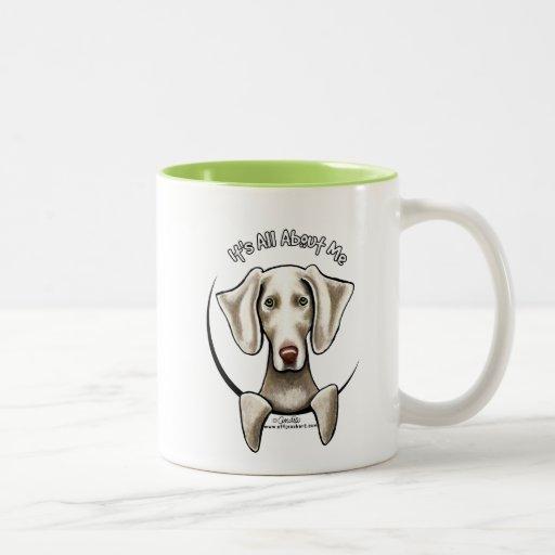Weimaraner IAAM Two-Tone Coffee Mug