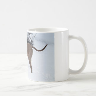 Weimaraner In Winter Coffee Mug