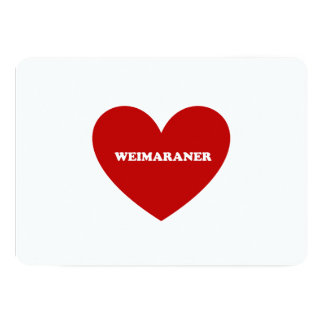 """Weimaraner Invitación 5"""" X 7"""""""