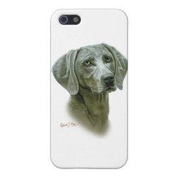 Case Savvy iPhone 5 Matte Finish Case with Weimaraner Phone Cases design