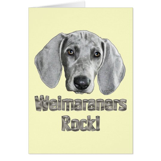 Weimaraner-Izzie Card